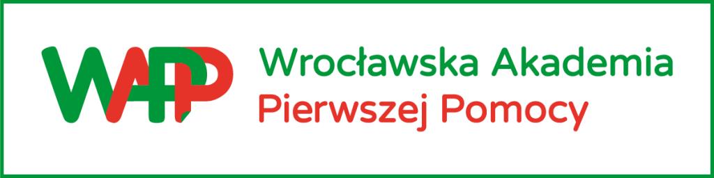 po lewej logo WAPP po prawej Wrocławska Akademia Pierwszej Pomocy
